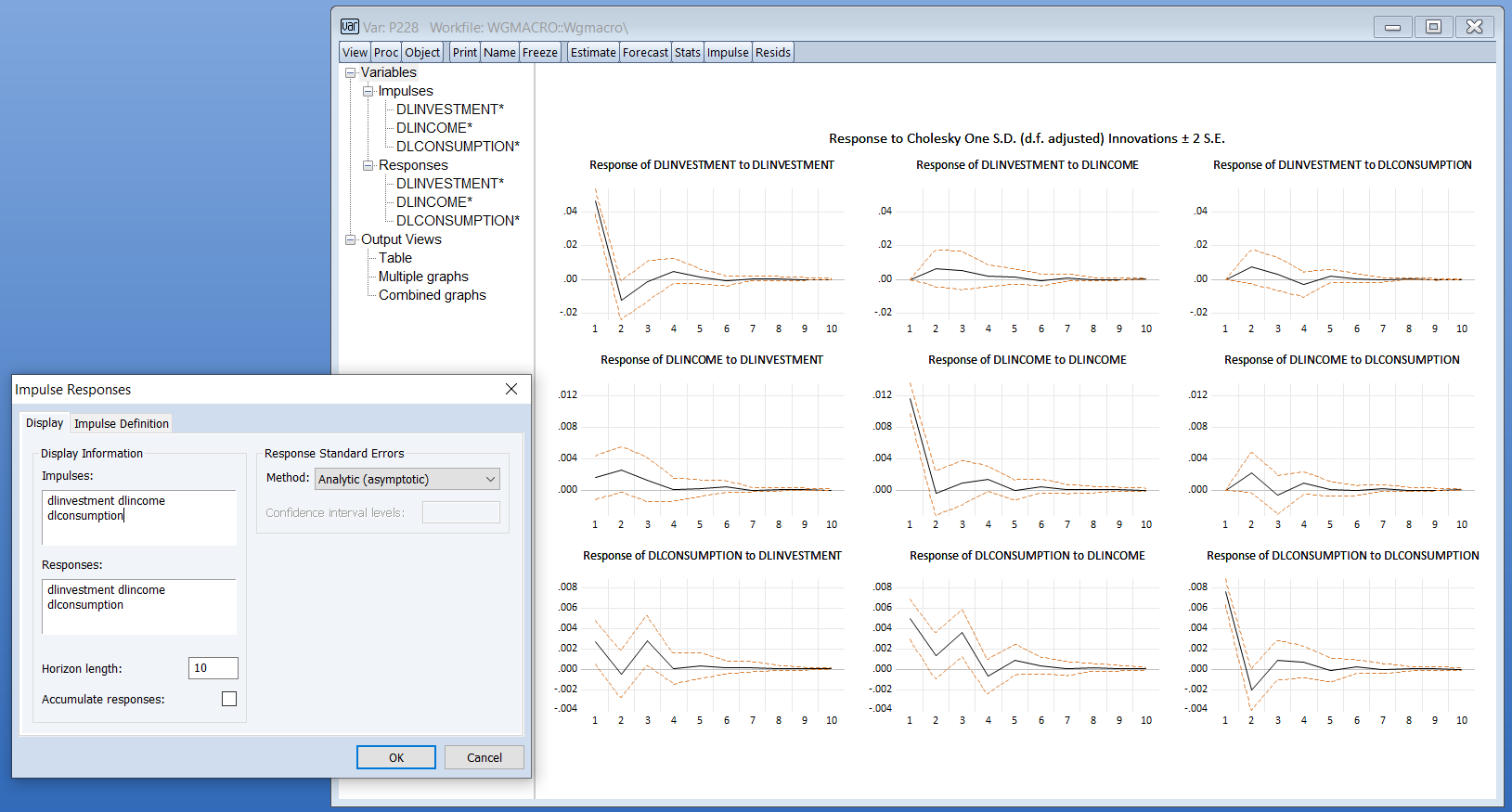 Testing and Diagnostics: New Interface, EViews 12