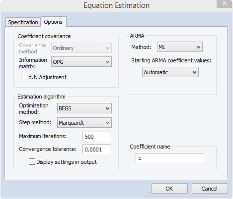 New Features: Estimation