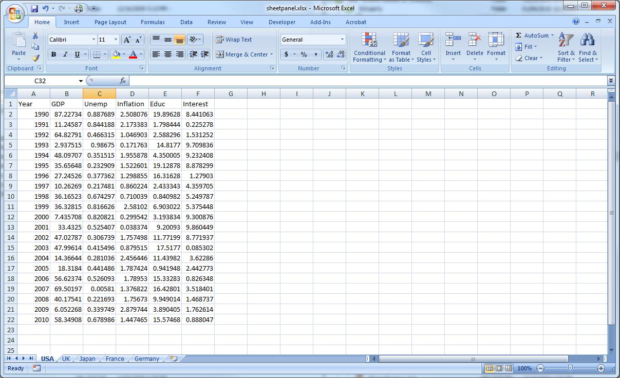 How to enter data into a panel workfile. - EViews.com